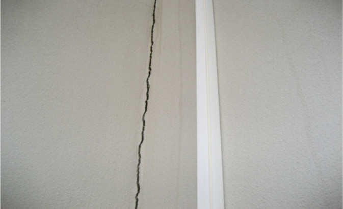 Large crack in wall