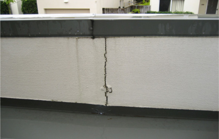 Large crack under windowsill
