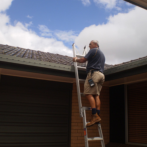 Exterior building inspection by Mervyn