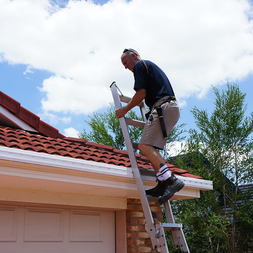 Martin inspecting Brisbane roof