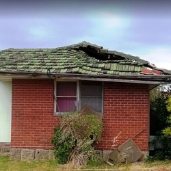 Collapsed tile roof on Perth house