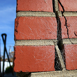 Structural cracking in brickwork