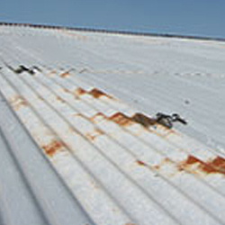 Rusting to corrugated roof sheeting