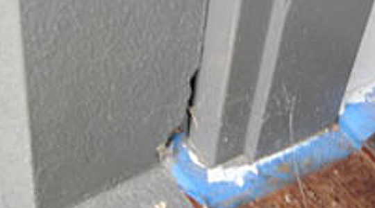 Poor workmanship located during a pre purchase inspection