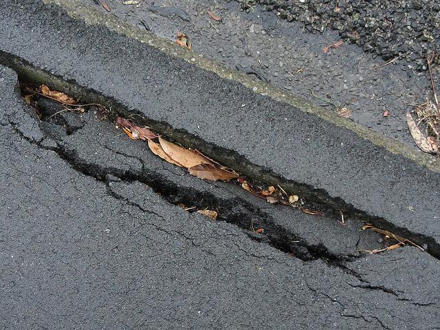 Crack in tarmac