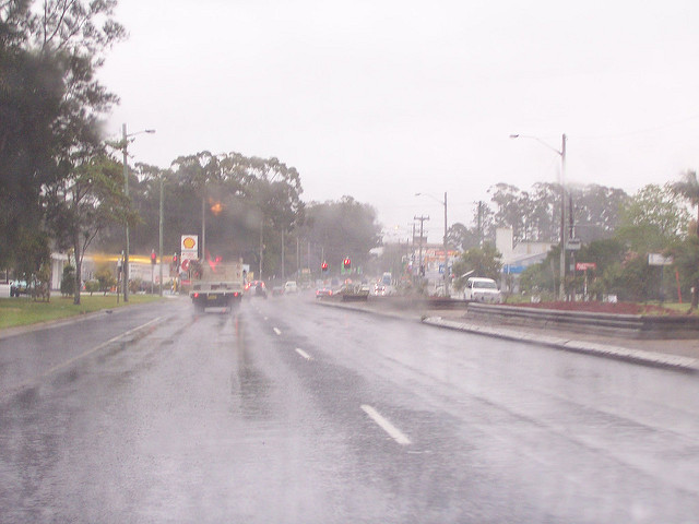 Wet Road in Coffs Harbour