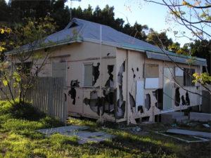 dilapidated fibro house