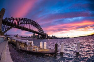 Milsons point view of Sydney Harbour Bridge