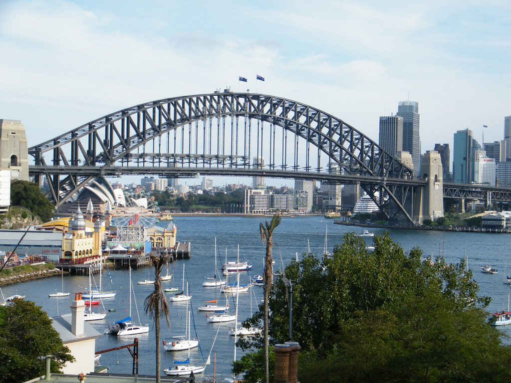 north sydney view bridge