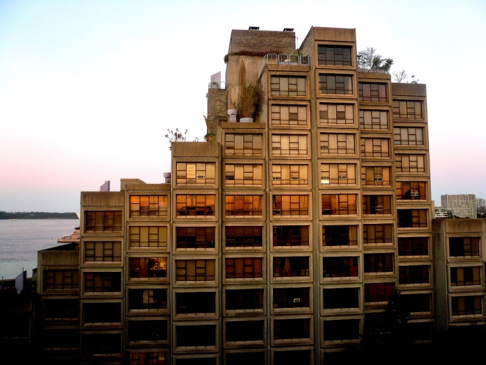 sunset building