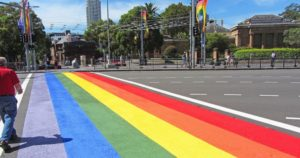 taylor square rainbow crossing darlinghurst
